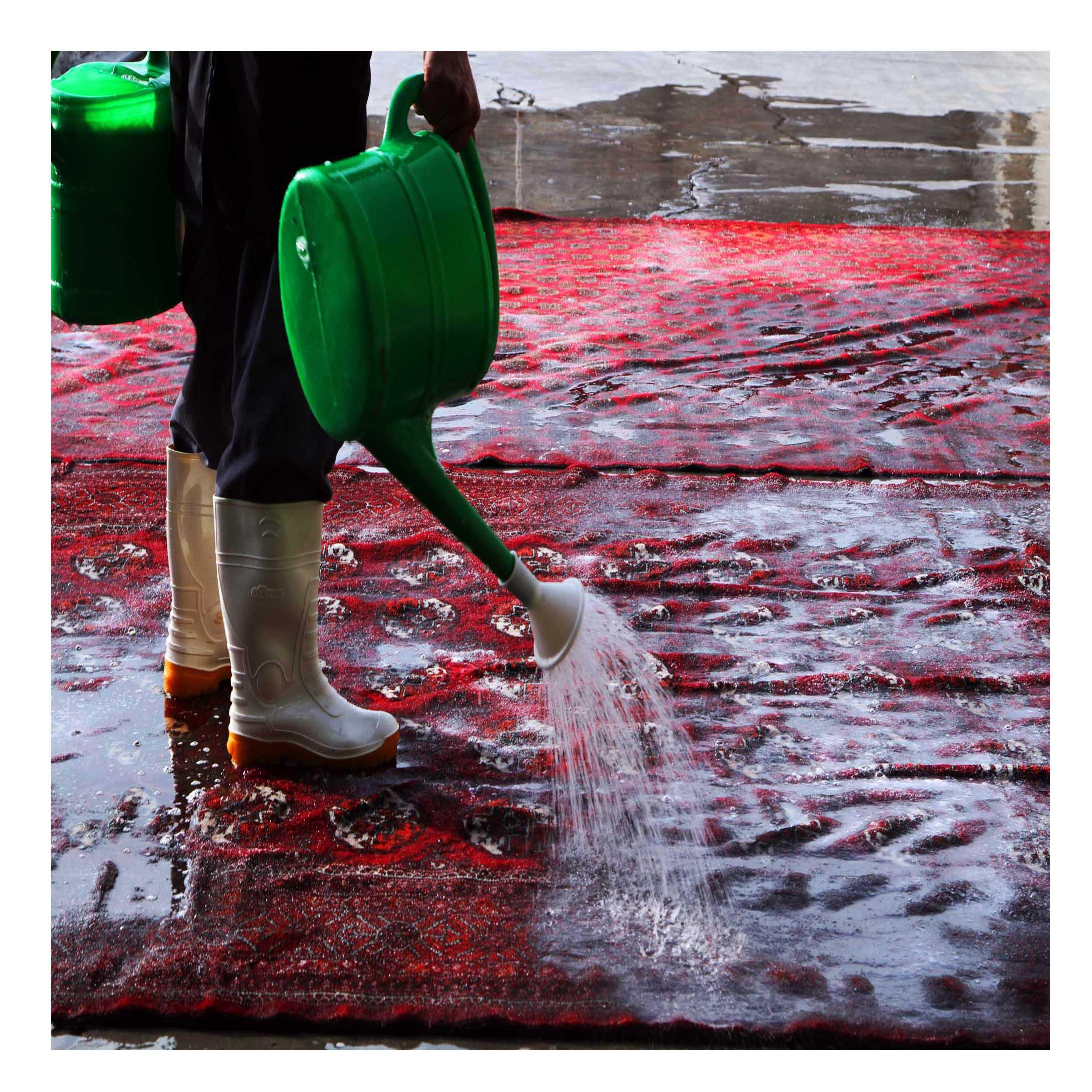 washing rug test 1