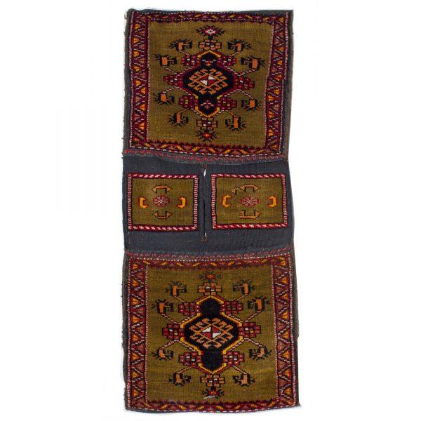 Turkish saddle Bag with fine wool