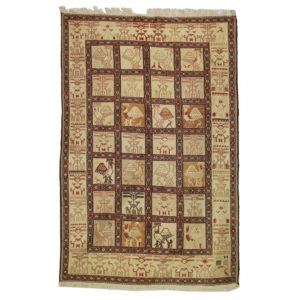 Persian Silk Sumack rug with tile design