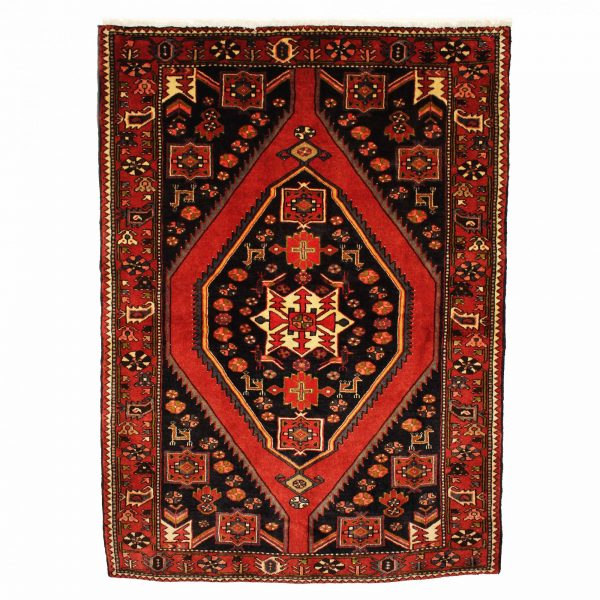 Persian Soveh rug with centre medallion