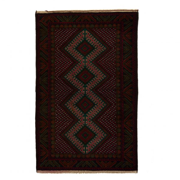 Afghanistan Bluch Rug with multi medallion. colurs are Red and touch of Dark green.