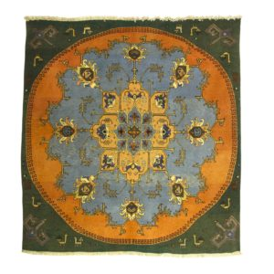 Persian Square Rug with centre circular Motif