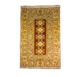 Turkish Milas Rug with 5 centre motif medallion and vegetable dye