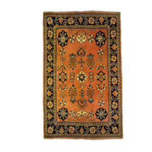 Persian Sauorgh Rug with soft colours and allover floral and dark border
