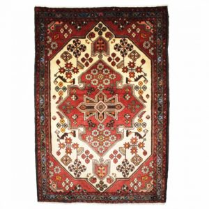 Persian Saveh rug with central meadllion