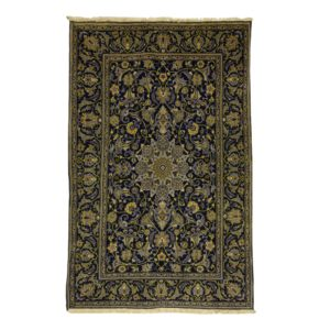 Persian Kashan Rug with blue central and blue colour border
