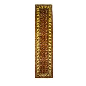 Afghan Kazak Runner Wool with allover geometric allover