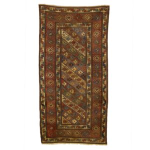 Antique shrivan rug , very old rug with vegetable dye.