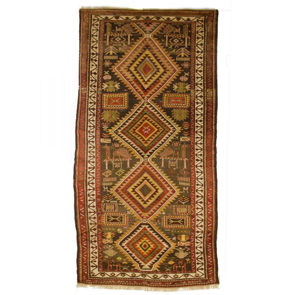 Antique shriven long runner from South Caucasian area