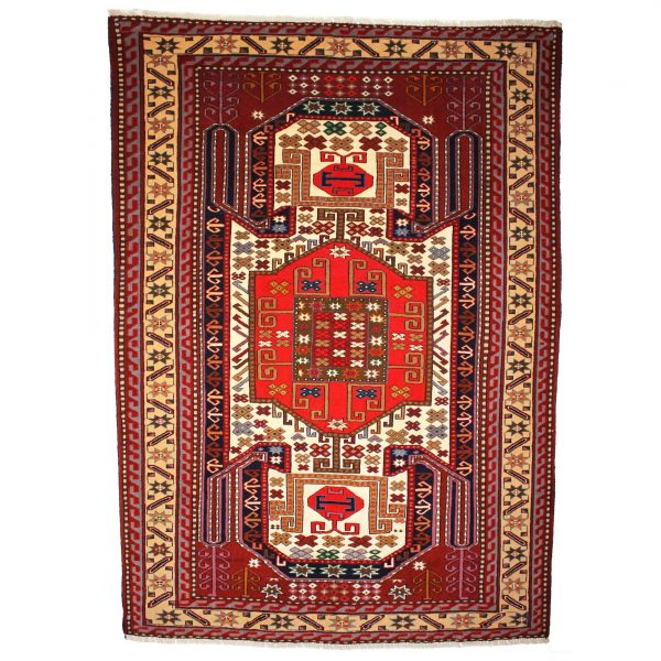 Persian Sarakes rug with highlight silk and wool Rug.