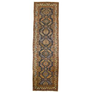Persian old Saveh wide runner.