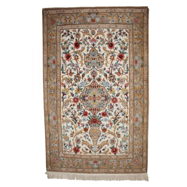 Persian Isfahan with silk highlight and fine wool.