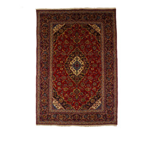 Persian Kashan Rug , red and blue colours.