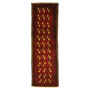 Persian Turkoman runner , narrow and long with red and yellow colour wool.