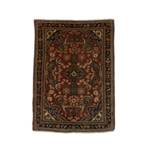 Persian Mahal Rug with floral patterns.