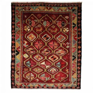 Persian Louri Rug with small floral heads.