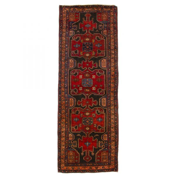 Persian Hamadan Runner with red and blue colure