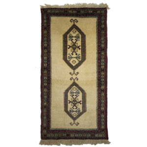 Persian Shriven Runner with Cream Background