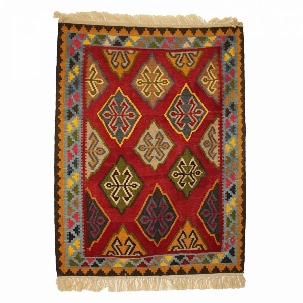 Persian Qashqai Kilim Rug Wool on Wool from South Persia nomad