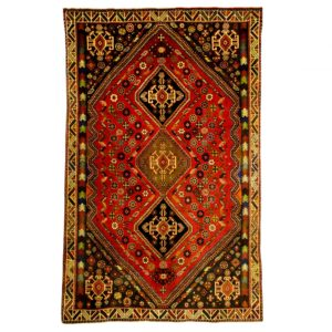 Persian Qashqai rug , wool on wool , nomadic rug