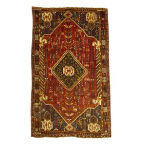 Persian Qashqai rug with wool on wool .