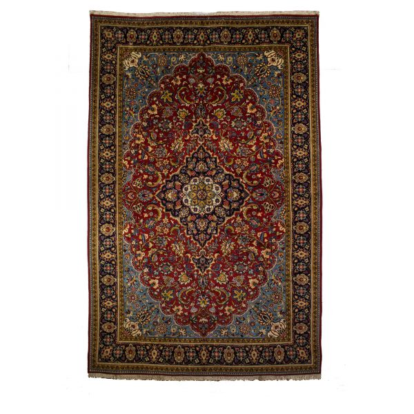 Persian Sarough Carpet with red background.