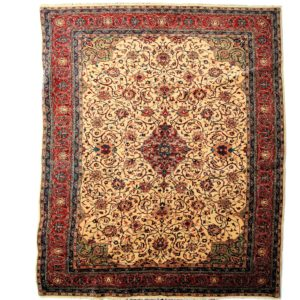 Persian Sarough Carpet with gold and light red colour Carpet