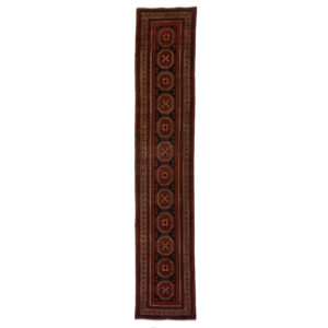 Persian Long Bluch Narrow Runner with small Gul motif