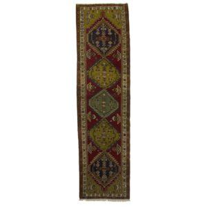 Persian Ardabil Runner with Dark yellow and dark red dye.