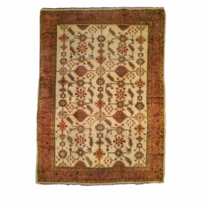 Cream Antique Ushak carpet