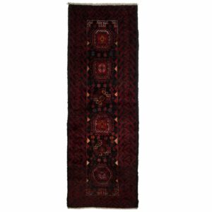 Persian small narrow Runner with dark red colour