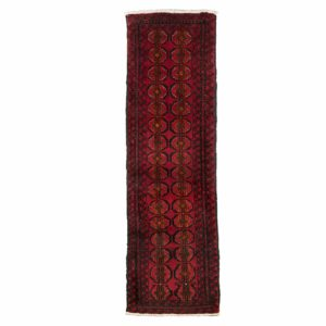 Persian Bluch Narrow Red Runner with Small Motif