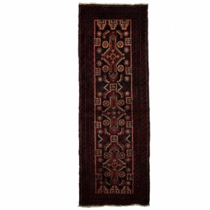 Persian Bluch narrow Runner with central motifs