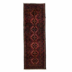 Persian Bluch Short Runner With Red and diamond shape