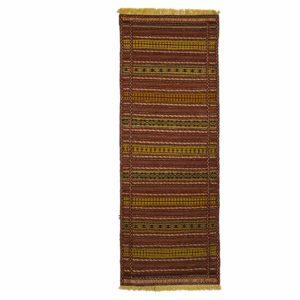 Persian Turkoman Kilim Runner with woollen materials