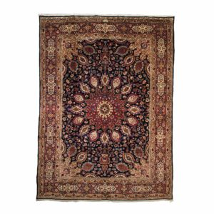 Persian Meshad carpet with Dark background Navy