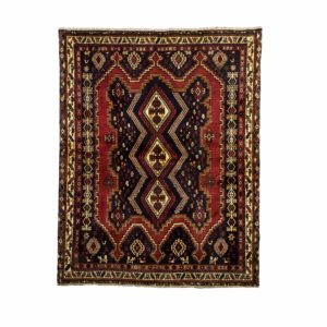 Persian Sirjan Rug with Blue and red colour