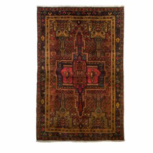 Persian Ghotag Rug with central medallion.