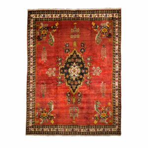 Persian Sirjan Rug with Empty filled and Floral motifs