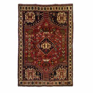 Persian Qashqai Rug with nomadic motifs