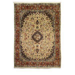 Persian Sarough Cream Floral Carpet