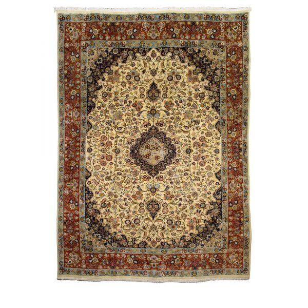 Persian Sarough Cream Floral Carpet