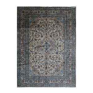 Persian Kashan Carpet with White and Blue Colour very nice colours