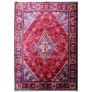 Josghan rug with red and blue colure . Geometric Design.
