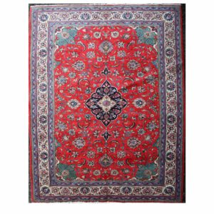 Qum carpet with floral central motif rug