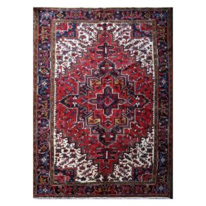 Persian Heriz Rug with soft autumn colours.